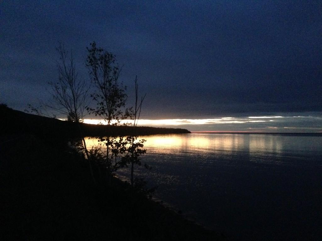 Sunset on Union Bay, Lake Superior