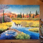 Beaver Dam Painting by Stephanie Thomas Berry